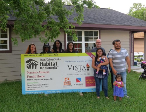 Vista College creates opportunities for Habitat homebuyers